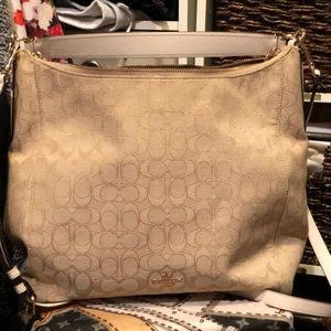 Cream and gold coach hobo
